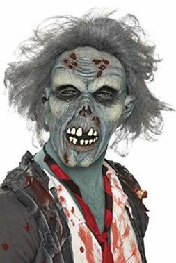 Halloween Scarry Smiffy's Men's Decaying Zombie Mask with Ha