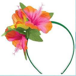 Amscan Tropical Hibiscus Flower Summer Headband Hawaiian Bea
