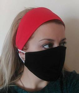 Headband with buttons for mask Hair accessories Hair band fa