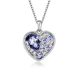 The Starry Night Heart Shape Tanzanite Purple Drop Crystal P