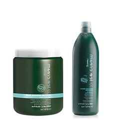 Inebrya Ice Cream Green Moisture Shampoo & Mask Set 1000ml P