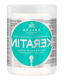 Kallos Keratin Hair Mask with Keratin and Milk Protein for D