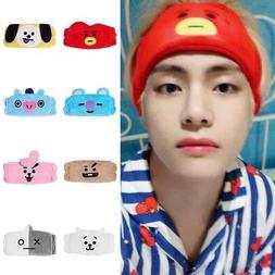 Kpop BTS BT21 V Same Headband Cotton Hair Band CLEANSING BAN