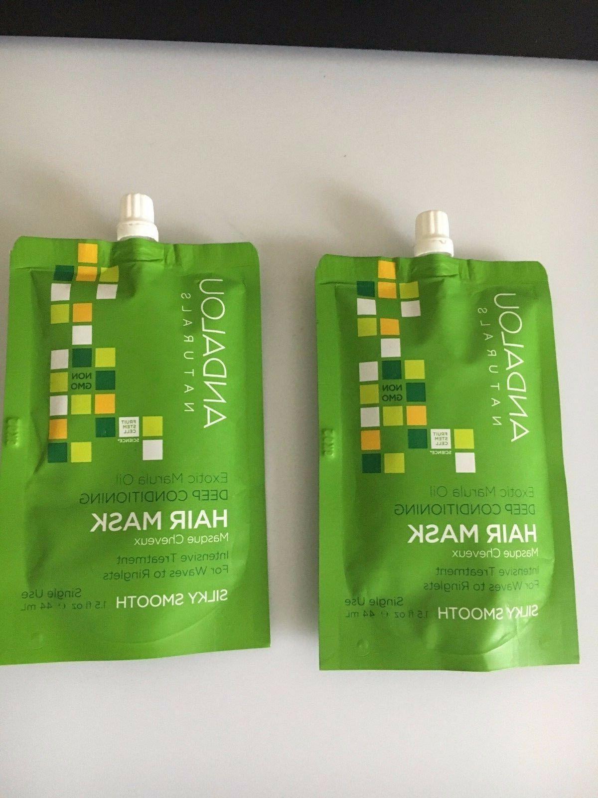 2x Andalou Naturals Exotic Marula Oil Silky Smooth Deep Cond