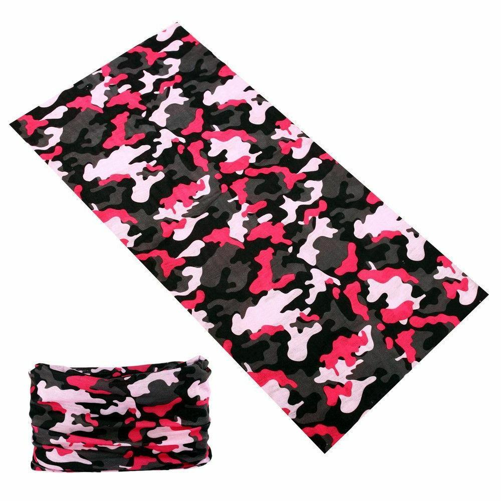 4pc Pink Headband Hair Band Headwrap Face Mask Bandana SPF40