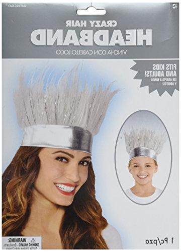 Amscan Crazy Hair Headband Funny Costume Party Headwear, Fab