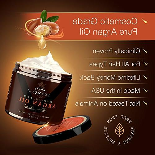 Argan Oil 100% ORGANIC Almond Oils - Conditioner, Hydrating Therapy, Repair Color Treated Hair Stimulates Hair 8 Oz