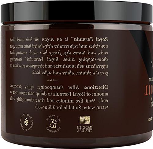 Argan Oil Hair 100% ORGANIC & Conditioner, Hair Treatment Therapy, Repair Color Treated Hair - Stimulates Hair Growth, Oz
