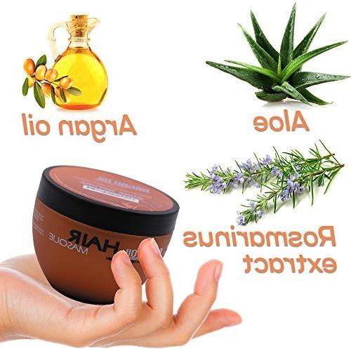 Argan - Deep Conditioner Sulfate Free or Damaged Jojoba Oil Aloe Vera Collagen and Keratin