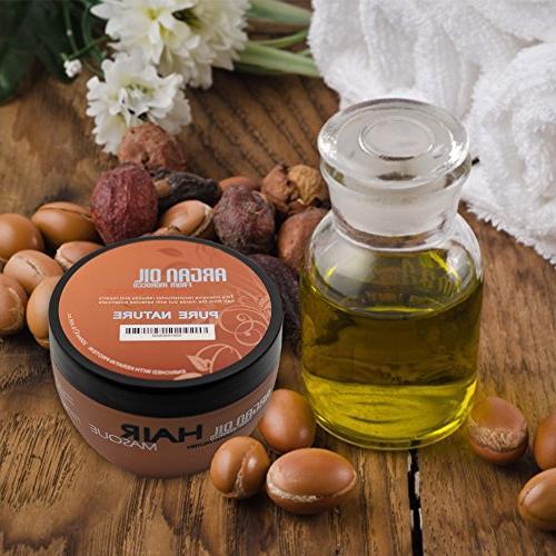 Argan Oil Hair - Free Damaged Hair with Organic Jojoba Kernel Oil Vera and Keratin