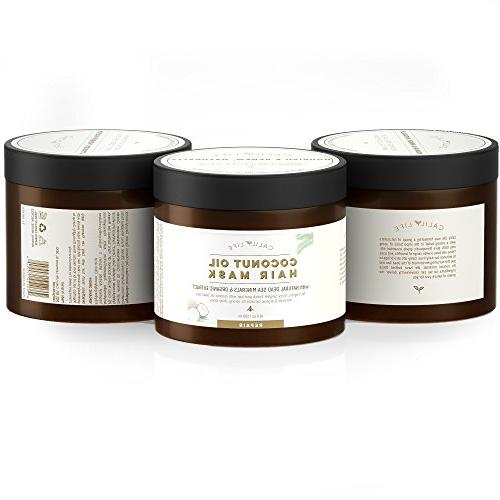 Calily Life Organic Oil Mask with Natural Dead Sea 17 Healing Natural Enriches and Hair, Hydrates, Softens, &