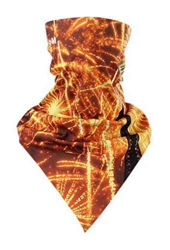 Riding Scarf Magic Triangular Scarf Cycling Mask Fireworks o