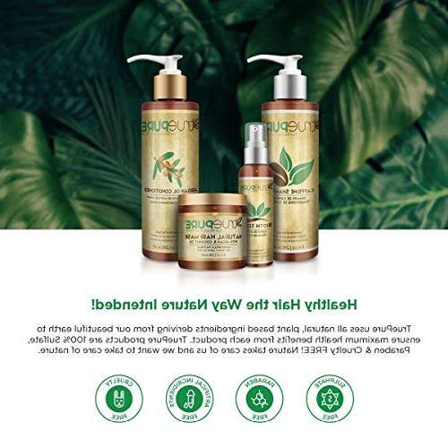 TruePure Hair With Argan Oil, Palmetto | Deep For Women With Damaged or Color Hair Fragrance-Free Hair 8oz