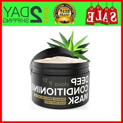 Xtava Deep Conditioning Mask Fl.Oz Hydrating Cream Pequi Oil Vera for Dry and Hair Anti Frizz Masks Straight Curly