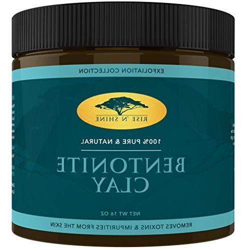 2 PACK 16 oz Bentonite Clay Powder 100% All Natural Face Mas