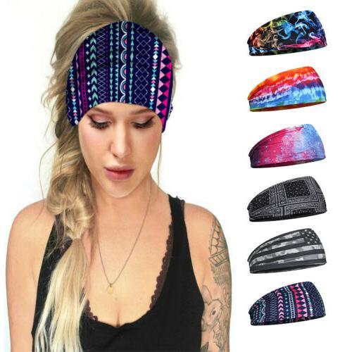 Bohemian Elastic Headband Hair Wrap Breathable