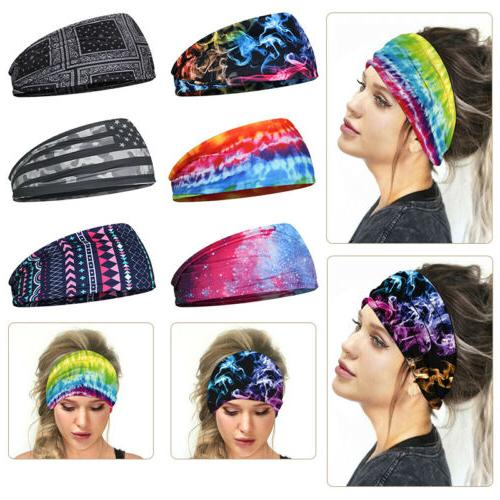 bohemian style elastic headband hair wrap mask