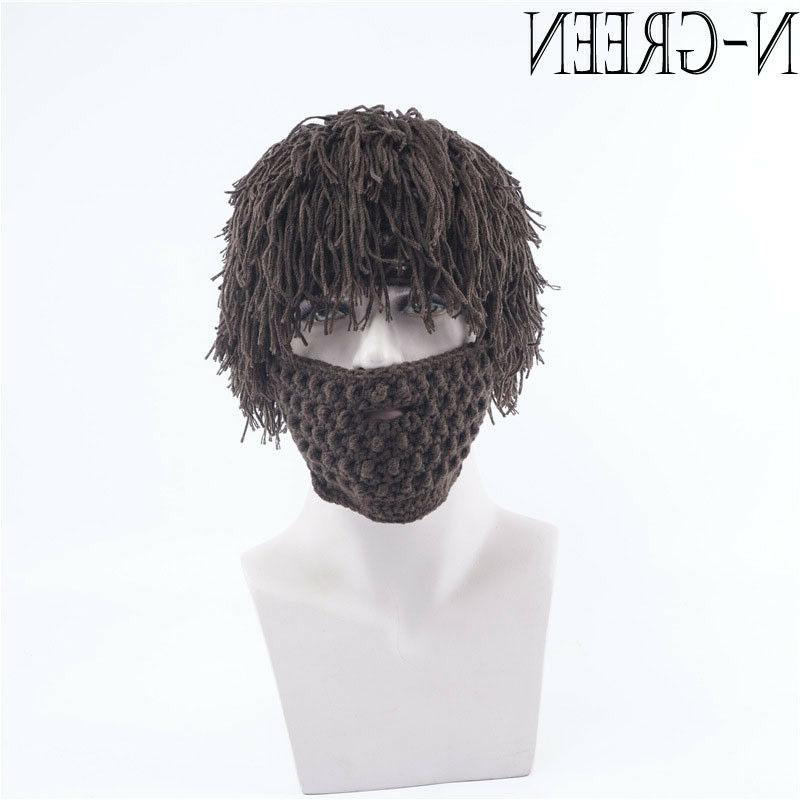 Christmas Gift Winter Wool With Wig Hair Outdoor