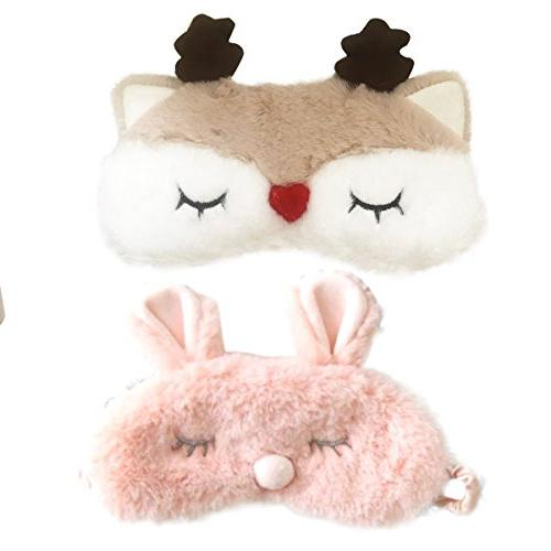 cute pink rabbits reindeer horn