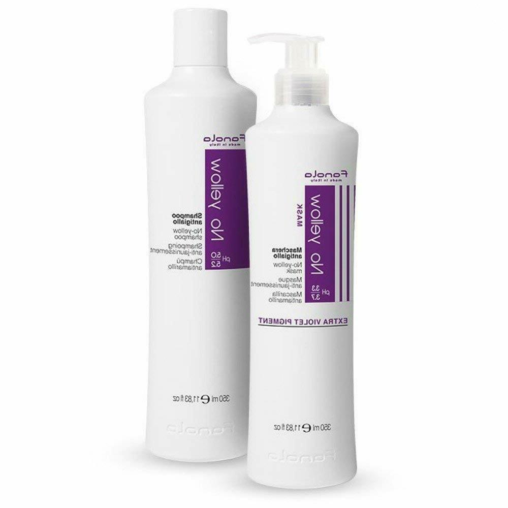 Fanola No Yellow Shampoo And Conditioner Mask 350 Ml Hair Ca