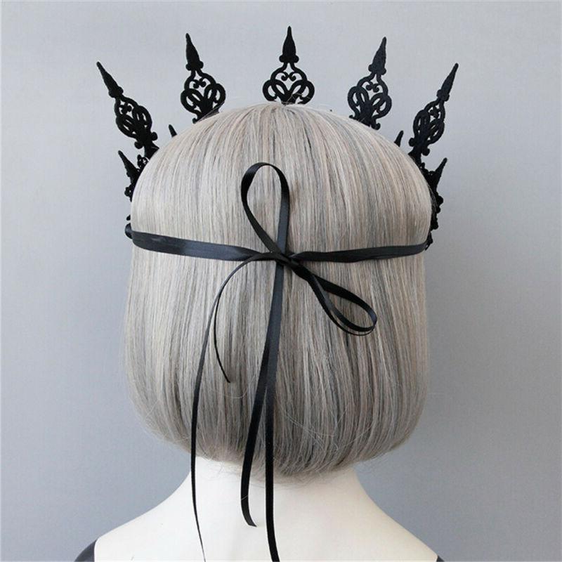 Fashion Crown Headband Black Wreath Hair Hoop Mask