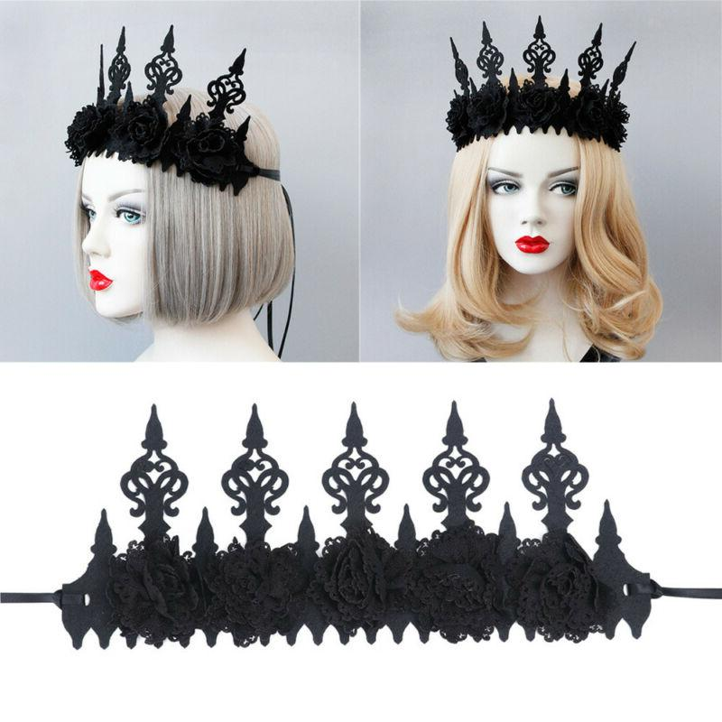 Fashion Crown Headband Black Hair Hoop Mask