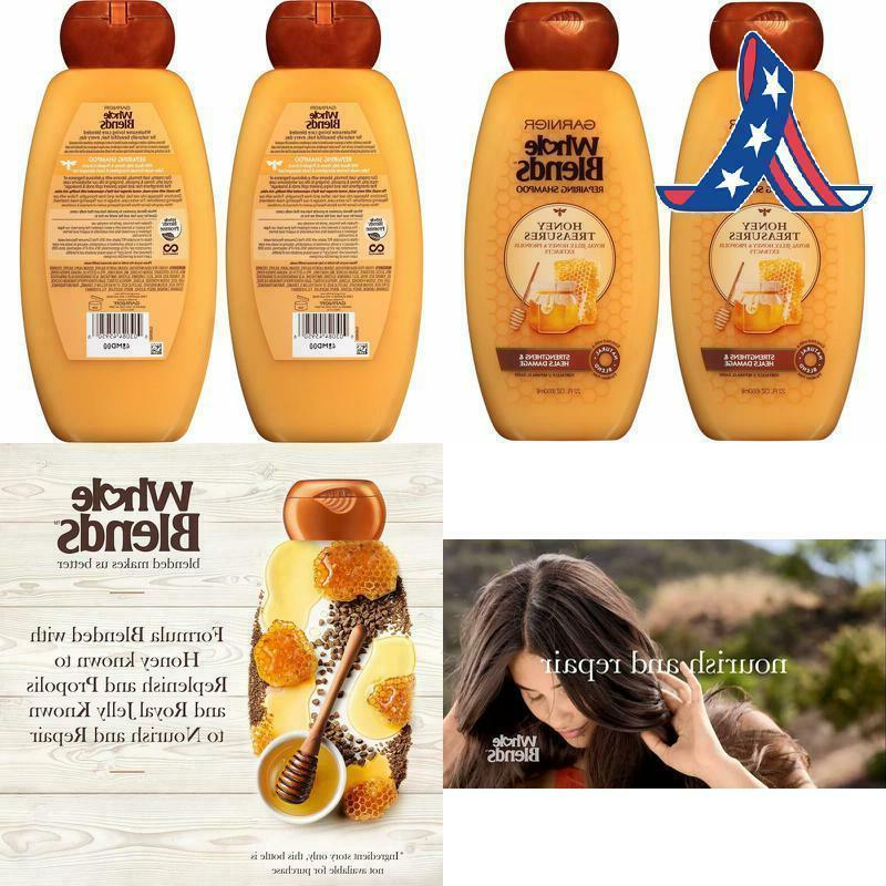 garnier hair care whole blends repairing shampoo
