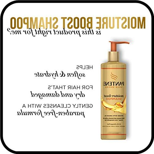 Pantene, Hair Mask, and Shine Creme Hair Treatment Argan Pro-V Gold Series, for Natural and Curly Textured Hair