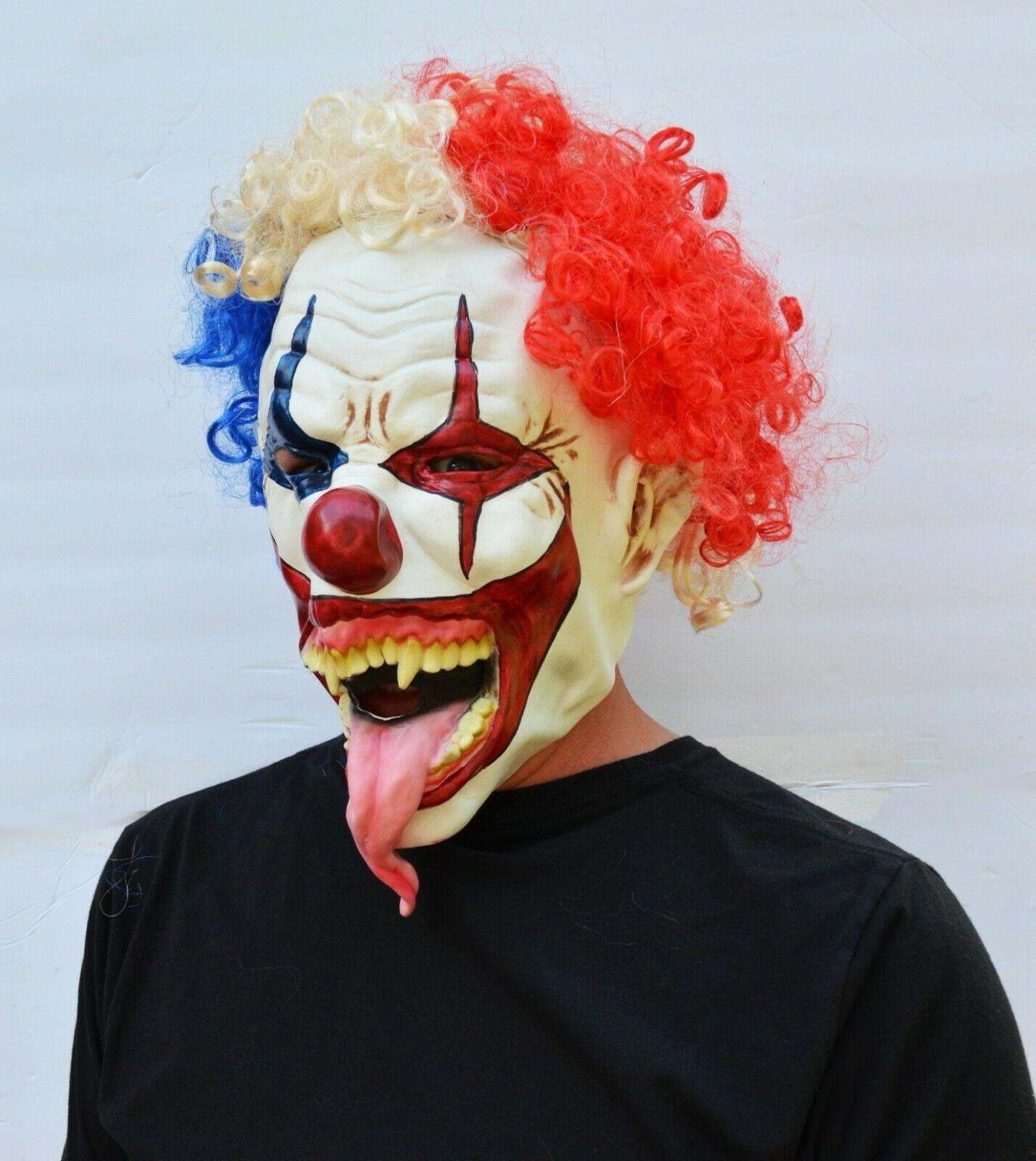Halloween Hair Mask Tongue CLOWN