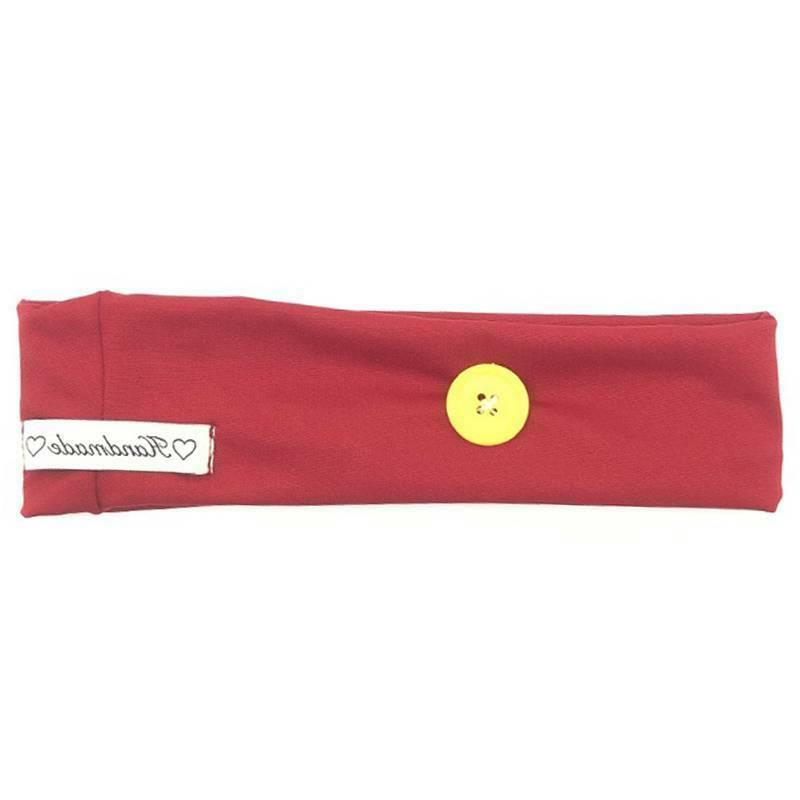 Headbands with Buttons Holder For Face Mask Soft Hair Sweatband Unisex
