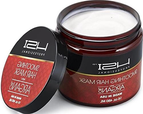 HSI Hydrating smoothing Anti-Frizz Hair all hair with c, d. silky, hair. sulfate free. Made in split