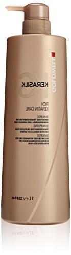 Goldwell Kerasilk Rich Keratin Care Shampoo for Unisex, 33.8
