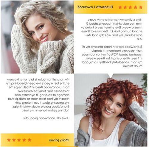 Blondwood Keratin Biotin Treatment Hair Mask 8