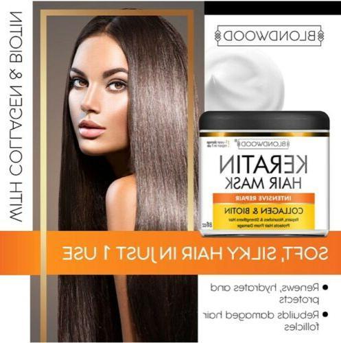 Blondwood Keratin Biotin Repair Hair Mask 8 oz