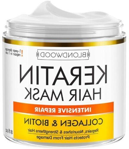 keratin hair mask biotin collagen treatment repair