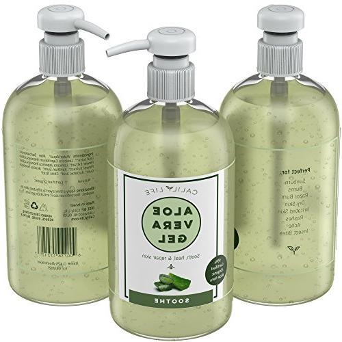 Calily Life 99% Aloe Skin, Apply Face, Hands & Body, Fl Oz. – Moisturizing, Antioxidant Antibacterial Dry Rashes,