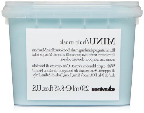 Davines Minu Hair Mask 8.45 Fl Ounces Healthy Formula Contai