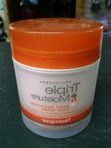 NEW ~ Neutrogena Triple Moisture Deep Recovery Hair Mask 6 o