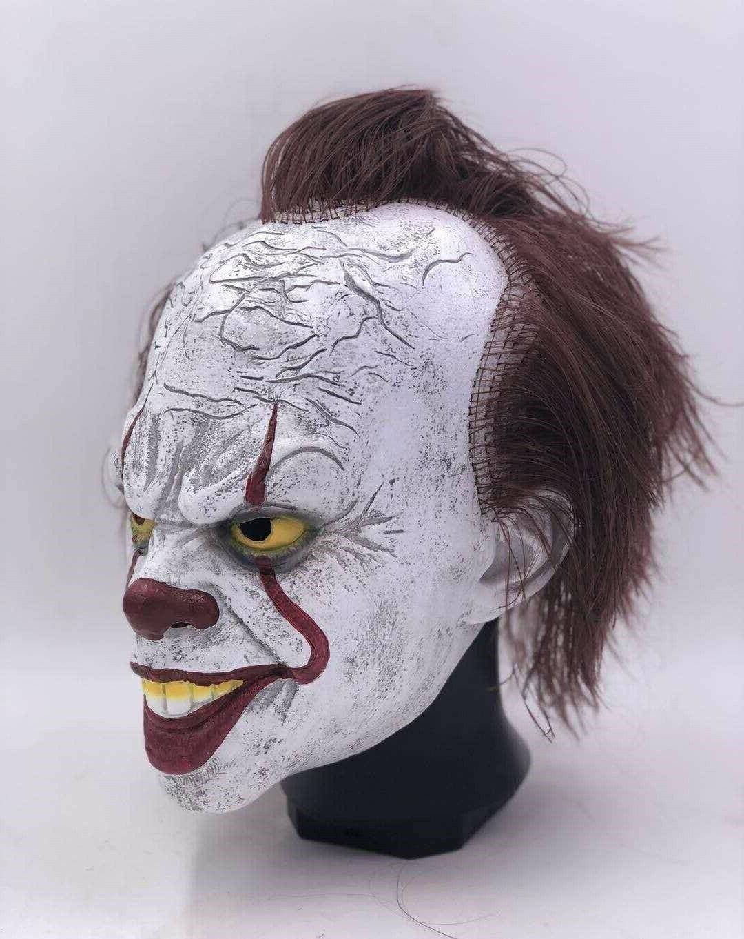 Pennywise w/Hair Clown Cosplay Halloween