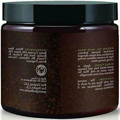Argan Hair Mask w/ Aloe Vera & Keratin Deep Oz Organic