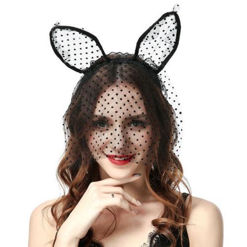 Women Sexy Lace Veil Mask Hairband Headband Hair Accessories