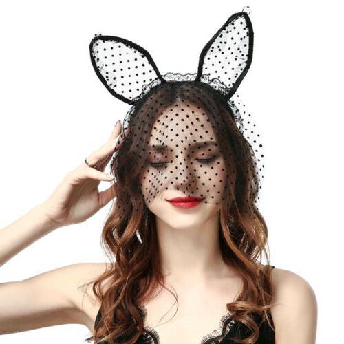 Women Sexy Mask Rabbit Headband Hair Accessories