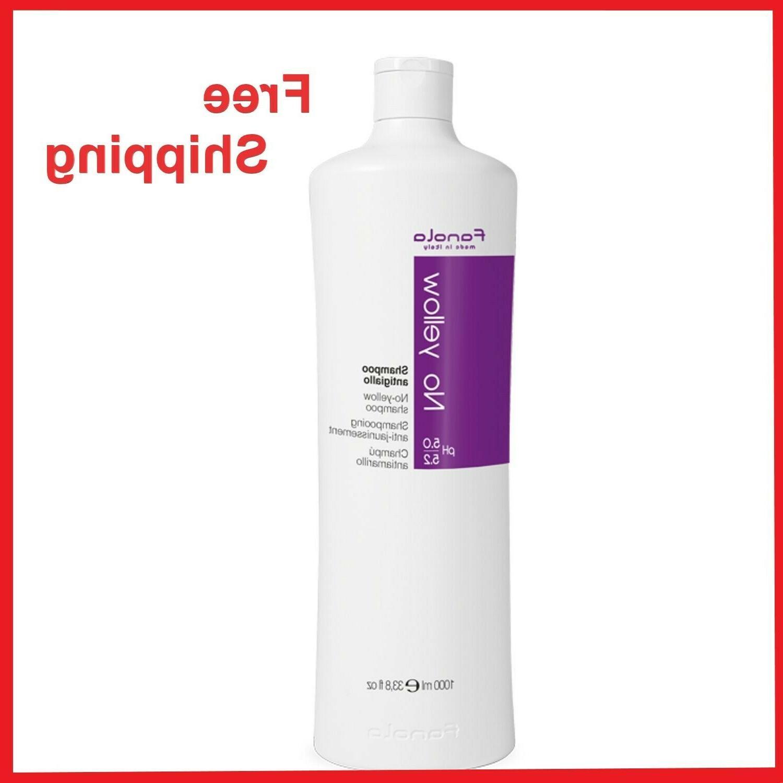 FANOLA NO-YELLOW SHAMPOO 1000ML /1L/ 33.8OZ 100% Genuine Ita