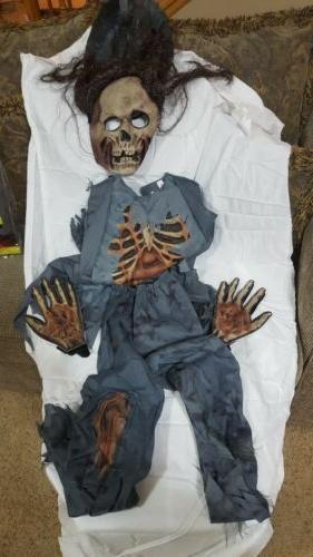 Zombie Corpse Halloween w/ Shirt, Pants, Gloves Mask w/ Hair