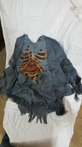 Zombie Corpse Child Halloween Costume Shirt, Pants, Gloves Mask w/ Hair