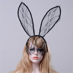 Lace Sexy Hair Band Halloween Sexy Mask Bunny Ears  Rabbit E