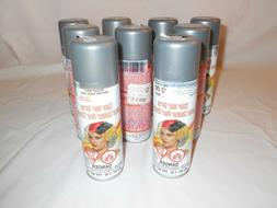 Lot of 9 Cans Temporary Hair Color Spray 3oz Silver Hallowee