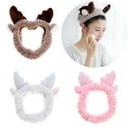 Mask Makeup Hair Band Shower Head Wrap Cute Antlers Women El