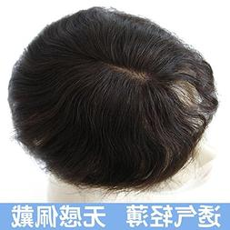 Mask real hair wig piece Hair top sheet replacement volume a