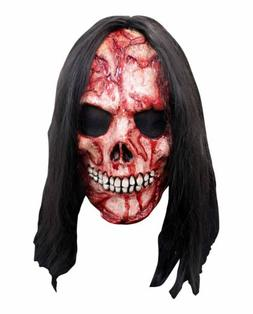 Men's Corpse Punk Hair Overhead Latex Costume Mask Halloween